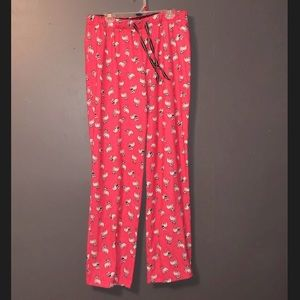 Cute bright pink with dog pattern pajama bottoms!